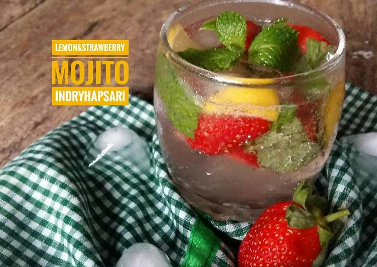 Resep Lemon & Strawberry Mojito a-la Indi