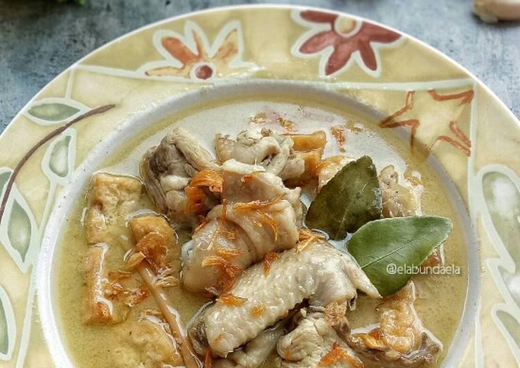 Resep Opor Ayam Tahu