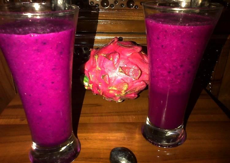 Resep Jus Buah Naga Mix Anggur