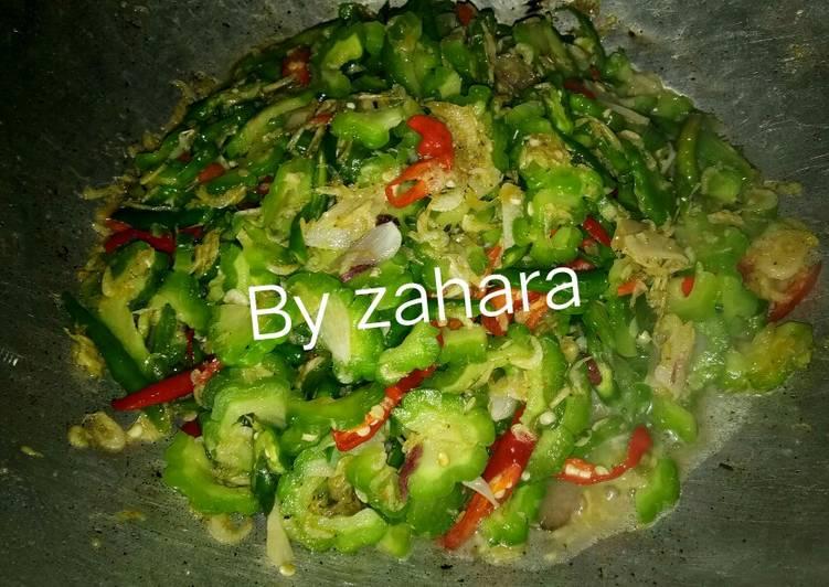 Resep Tumis Pare udang rebon By zahara No Pait