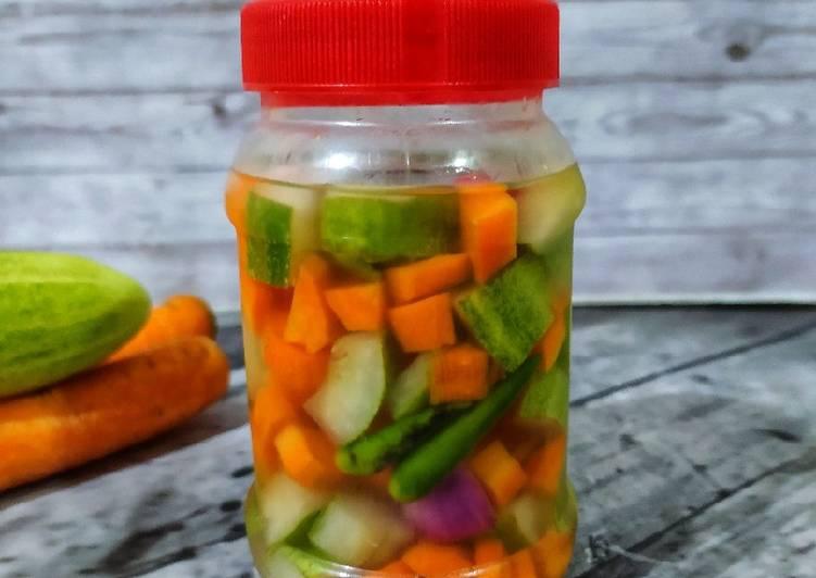 Resep Acar timun wortel (cuka apel)