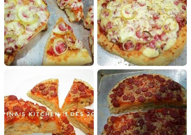Resep Pizza super empuk+kilat anti gagal (no proofing n ulen)