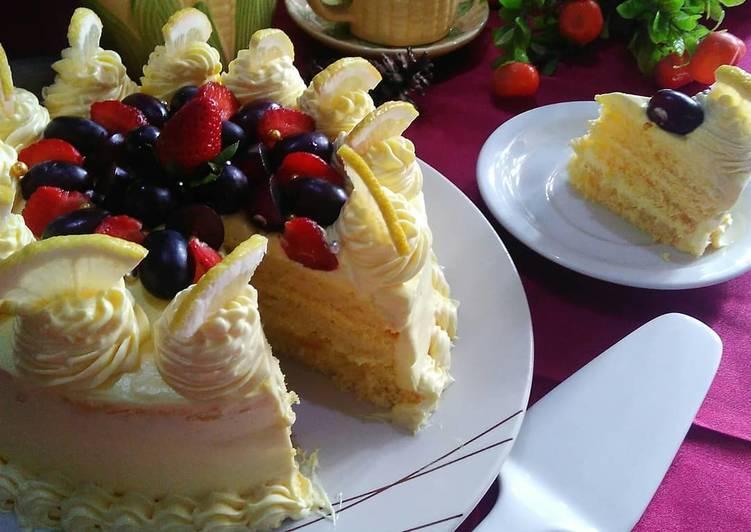 Resep Lemon sponge cake