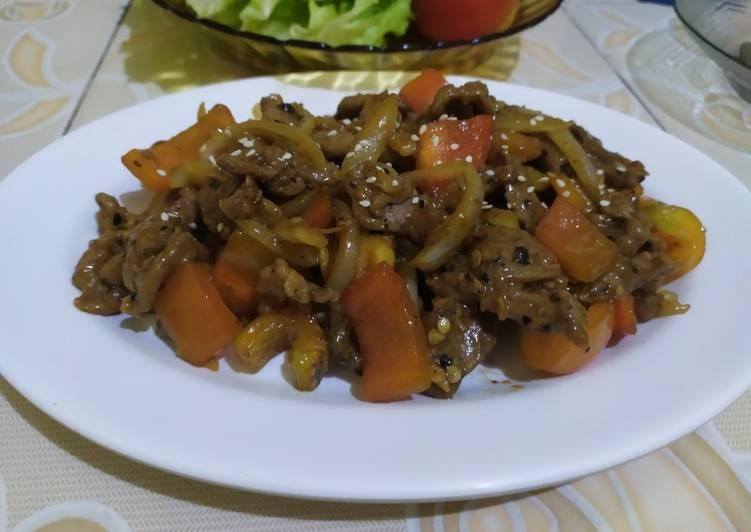 Resep Sapi Lada Hitam / Blackpaper Beef
