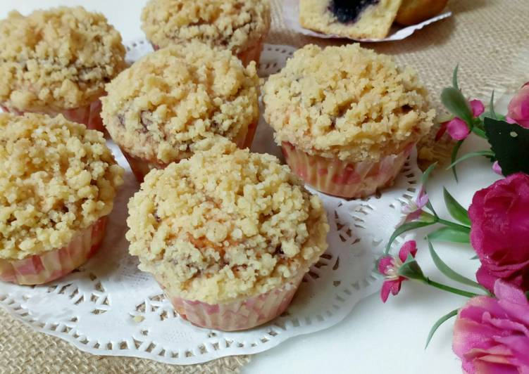 Resep Blueberry Muffin With Streusel