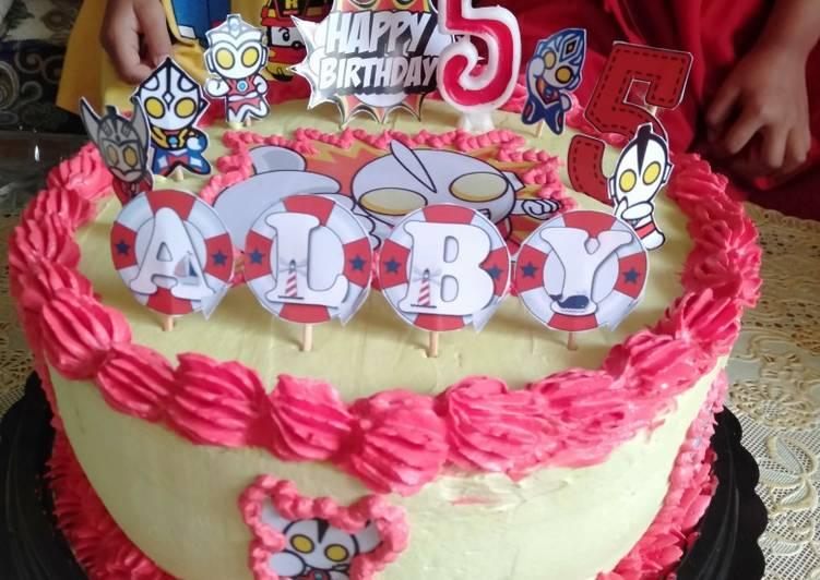 Resep Kue Ulang tahun ultraman