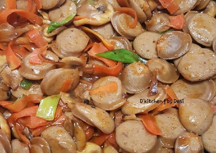Resep Jamur sosis masak saos bbq #BikinRamadhanBerkesan