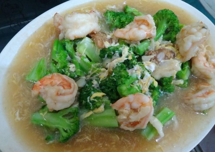 Resep Udang Cah Brokoli