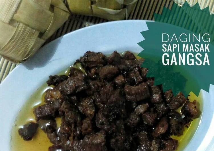 Resep Gangsa Daging Sapi #KitaBerbagi