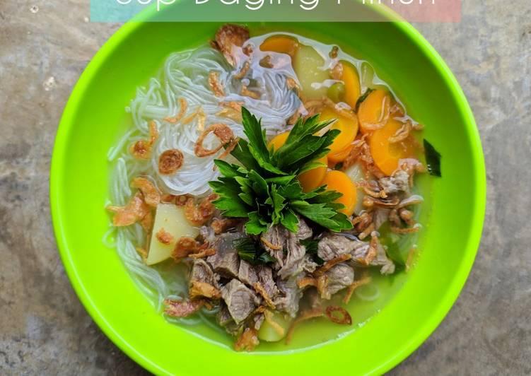 Resep Sup Daging Mihun