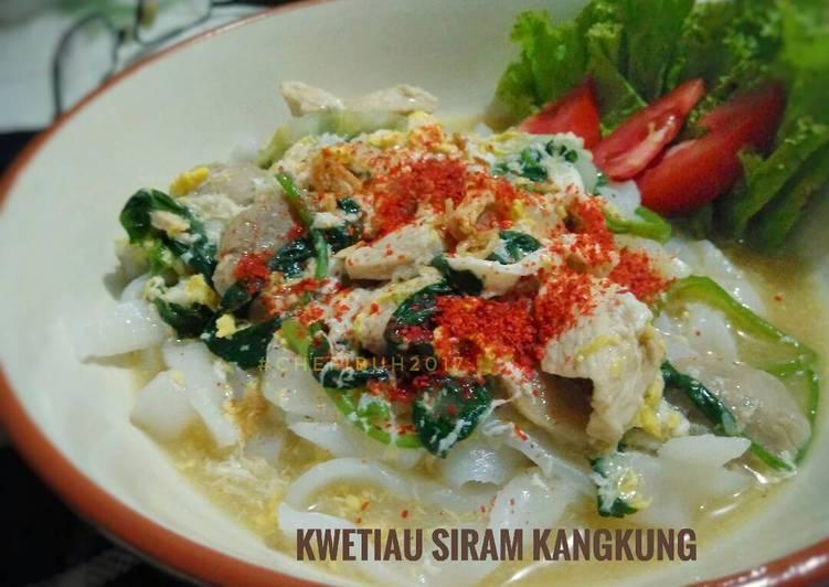 Resep Kwetiau Siram Kangkung