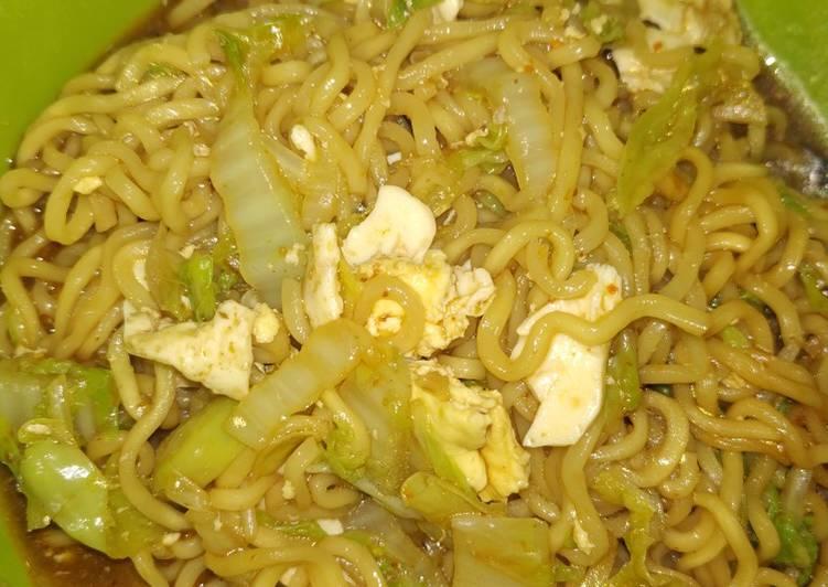 Resep Indomie telur pedes