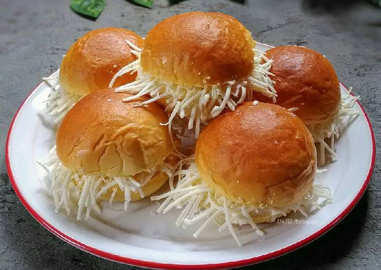 Resep Roti Semir Keju (basic roti wortel tomat)