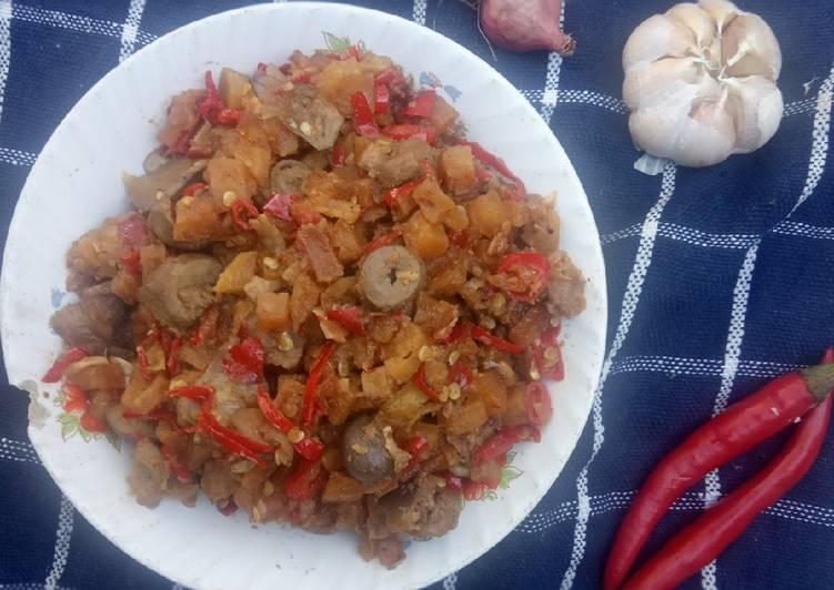 Resep Sambel kentang ati ampela