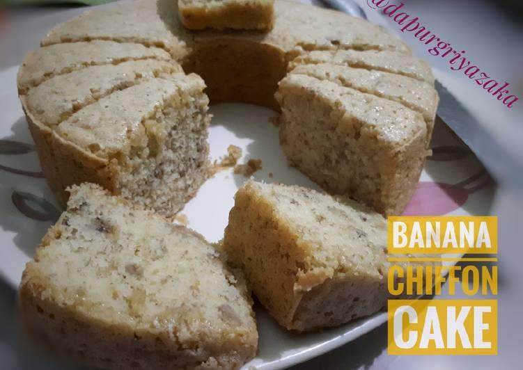 Resep 020Banana Chiffon Cake