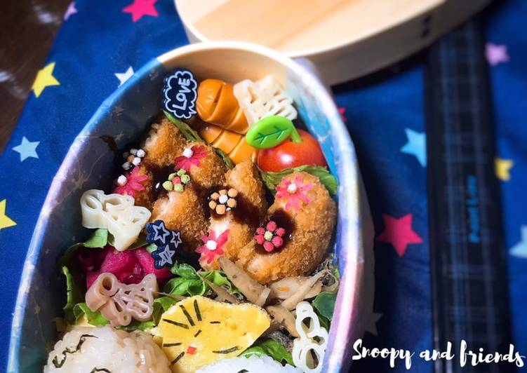 Resep Snoopy and friends bento