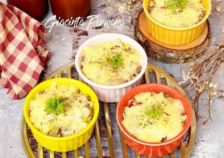 Resep Nasi panggang mozzarella