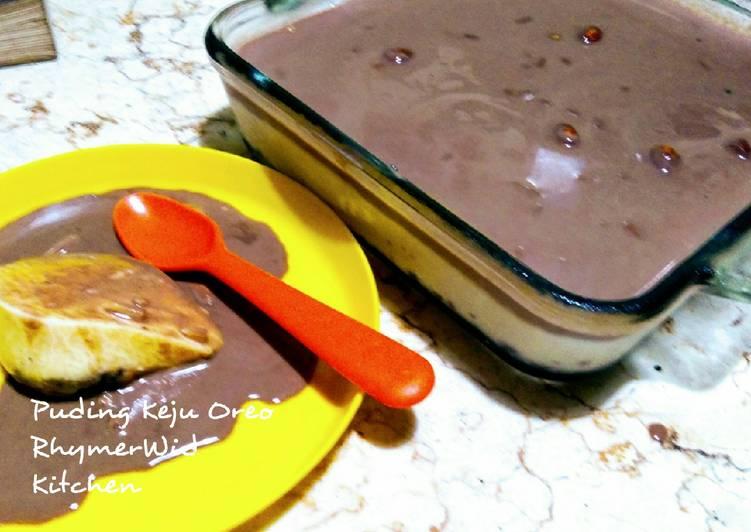 Resep Puding Keju Oreo (Oreo dessert puding)