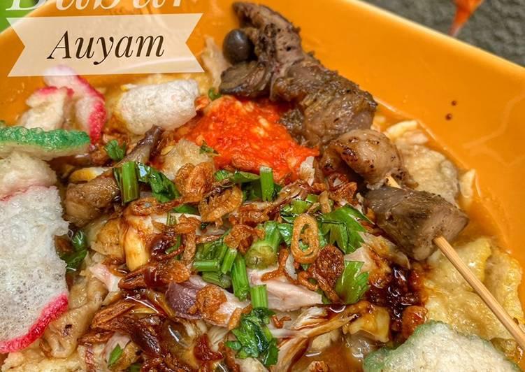 Resep Bubur ayam istimewa (dengan rice cooker)