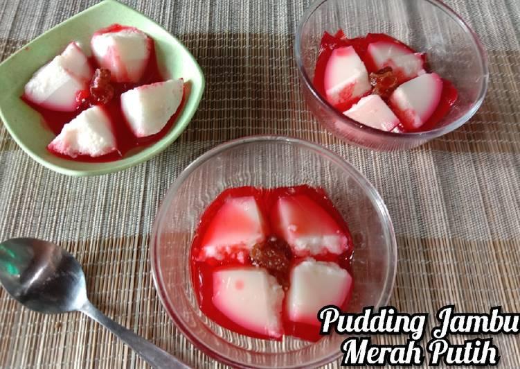 Resep Pudding Jambu Merah Putih