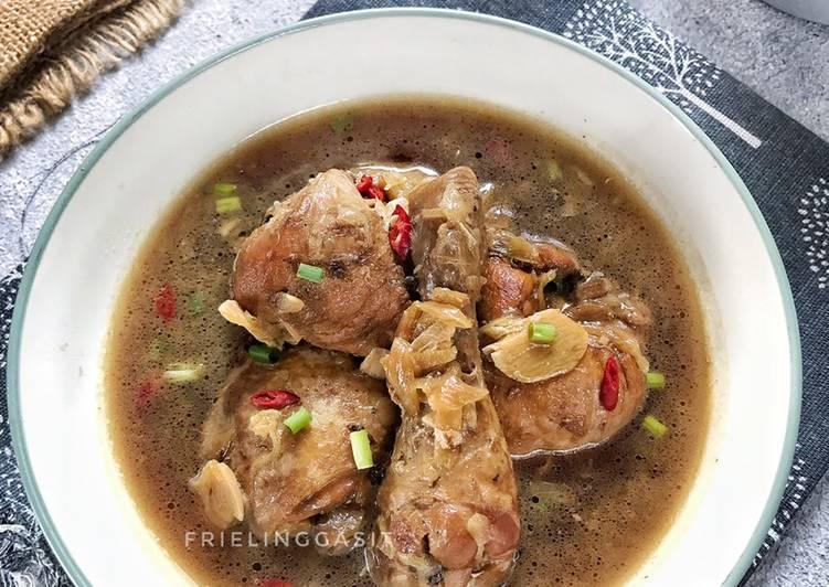 Resep Ayam masak saus Inggris