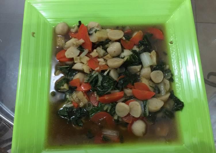 Resep Cah Sayuran campur Bakso Ikan+Hekeng