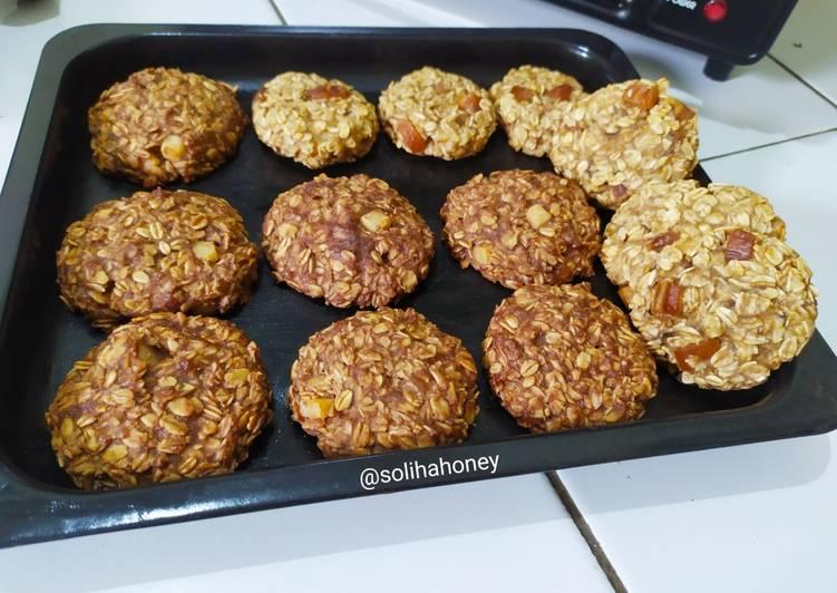 Resep Oatmeal Banana Cookies (2 Rasa)