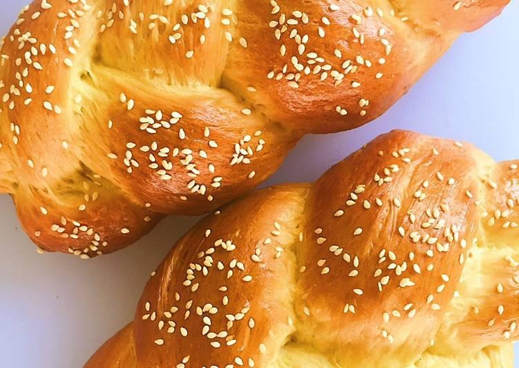 Resep Braided Loaf Bread (Roti Kepang)