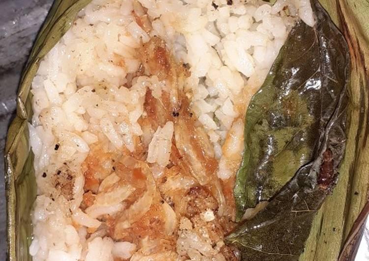Resep Nasi bakar rebon