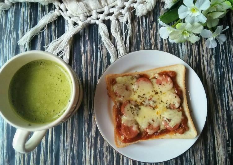 Resep Pizza Roti Tawar (teflon)