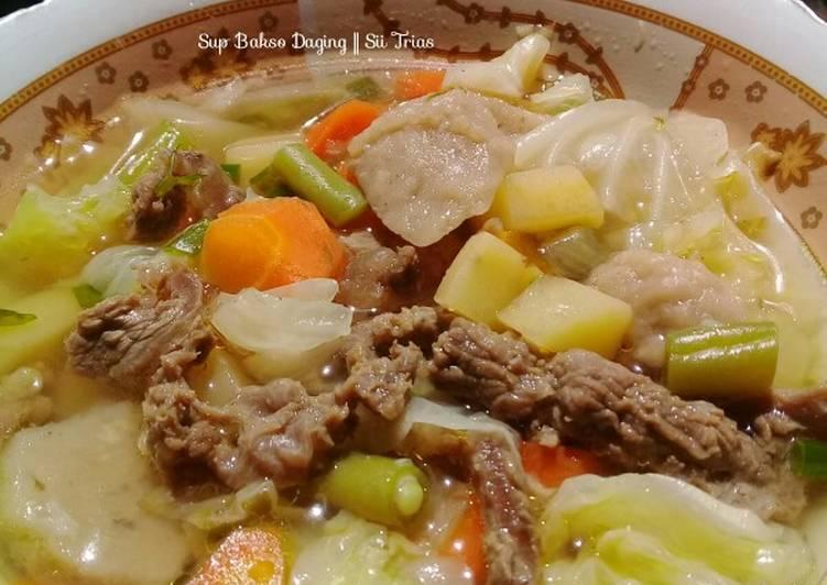 Resep Sup bakso daging sapi