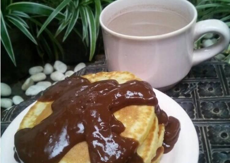 Resep Pancake saus coklat