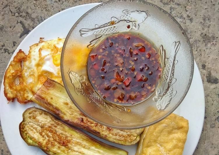Resep Terong bakar sambal kecap