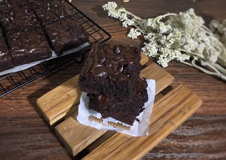 Resep Chewy Brownies Ala Erlinda Lim