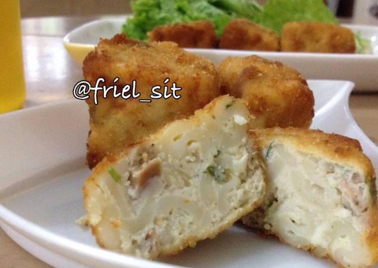 Resep Makaroni-sosis goreng