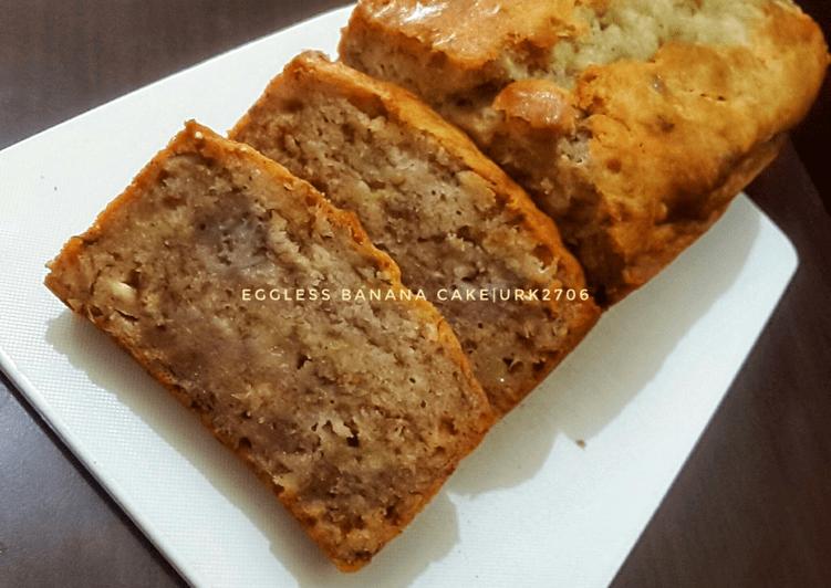 Resep Eggless banana cake