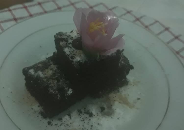 Resep Brownies coklat nutricake panggang (happycall)