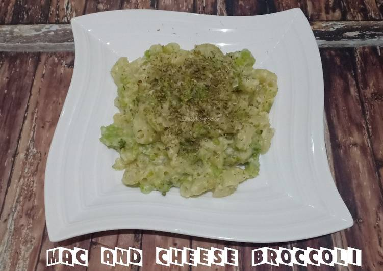 Resep (50.Mac and cheese broccoli