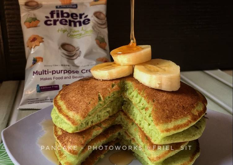 Resep Fluffy green tea pancake, no BP