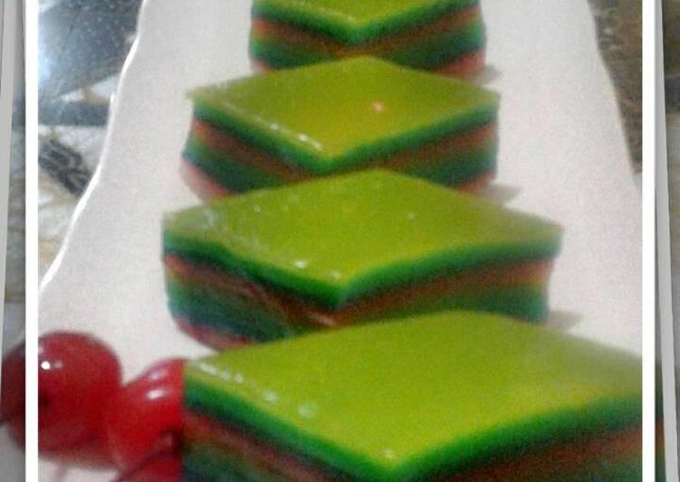 Resep Lapis Sagu Aneka warna