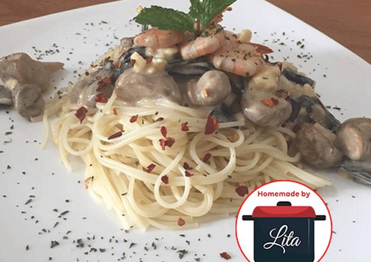Resep Spaghetti Carbonara #homemadebylita PR_Pasta
