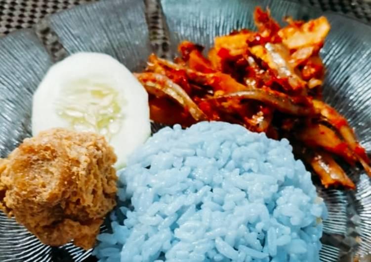 Resep Nasi lemak bunga telang
