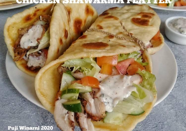 Resep Chicken shawarma platter