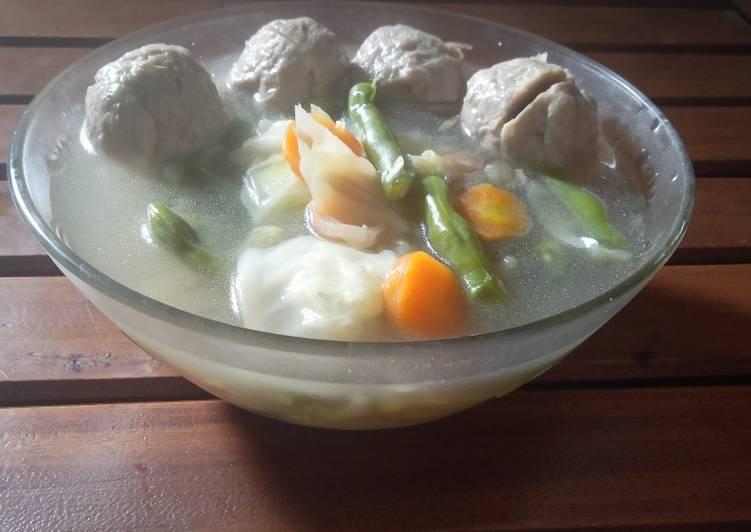Resep Sup Baso Sayur