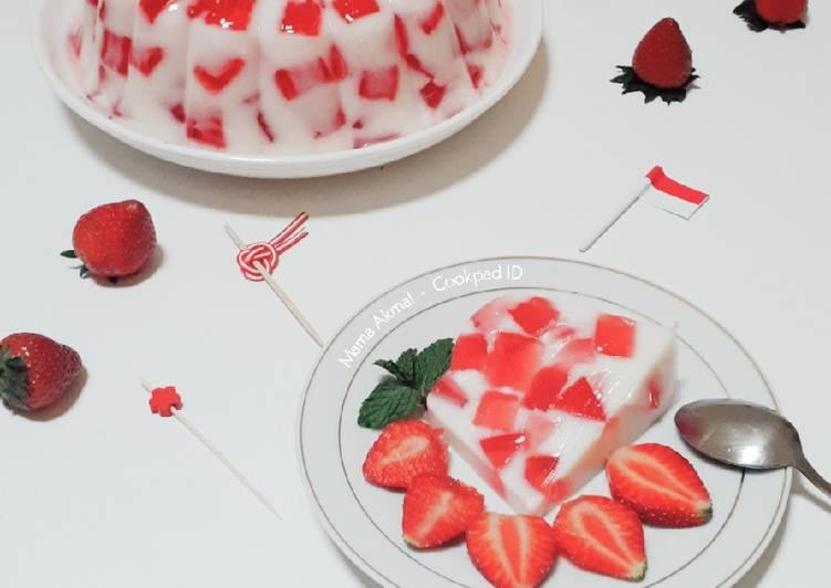 Resep Merah Putih Puding Mozaik