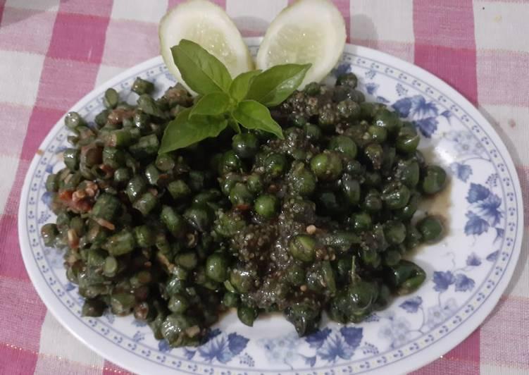 Resep Sambal leunca dan kacang panjang