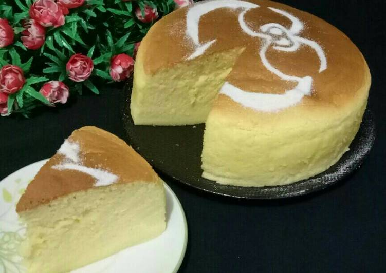 Resep Japanese Cotoon Cheesecake