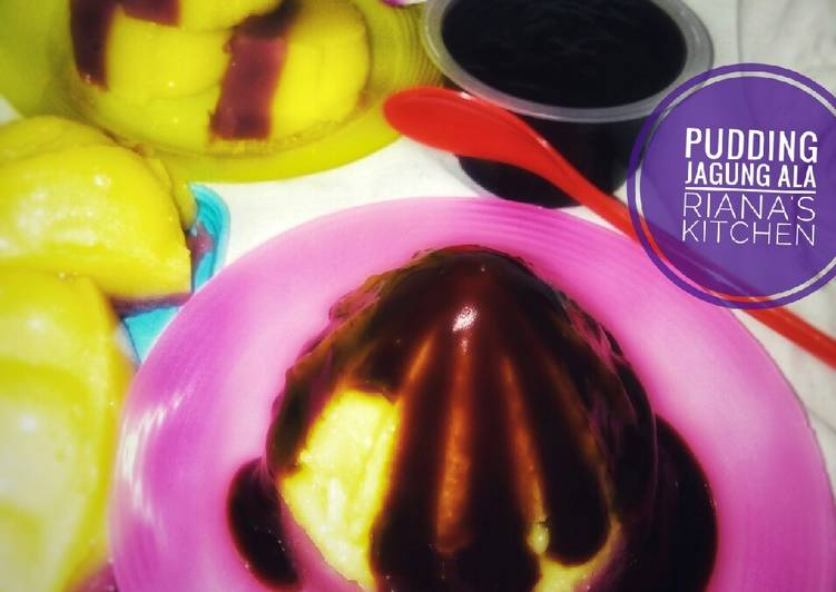 Resep #pudding jagung vla coklat>ala riana's kitchen