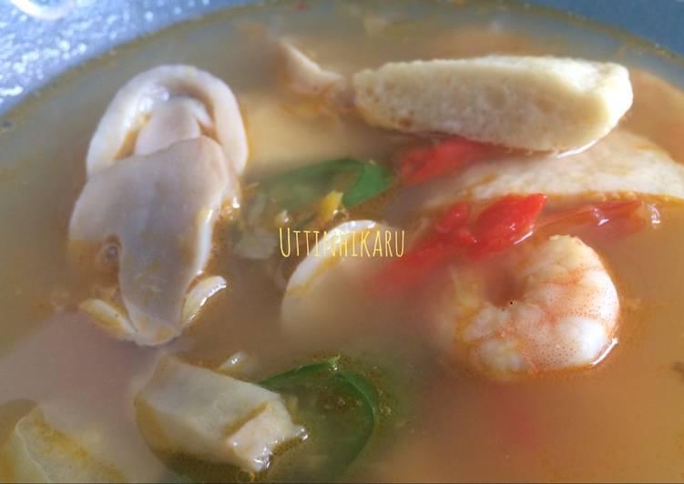 Resep Seafood Soup / Tomyam Modifikasi untuk Anak No MSG