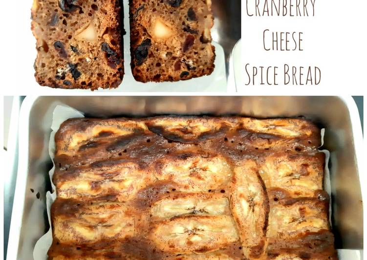 Resep Banana Cranberry Cheese Bread Berbumbu